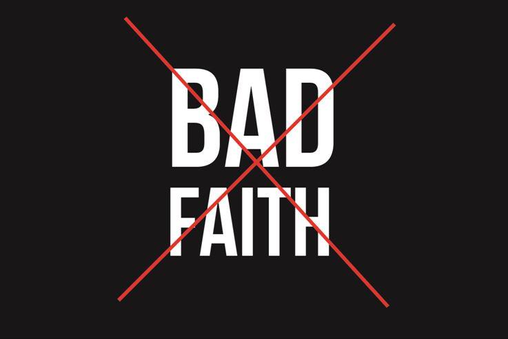 no bad faith